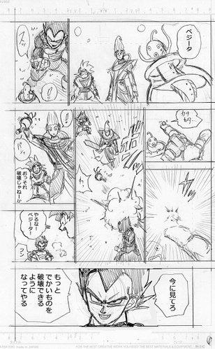 Dragon Ball Super Manga: 70. fejezet vázlat oldalak és infók 8