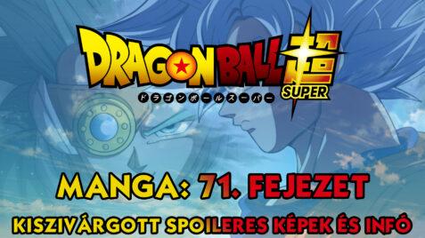 Dragon Ball Super Manga 71. fejezet: kiszivárgott spoileres oldalak