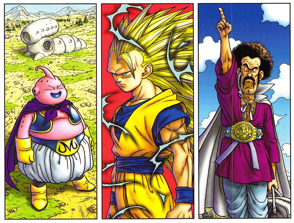 """Dragon Ball DVD bónusz """"Diorama 3. kiadás"""" illusztráció"""