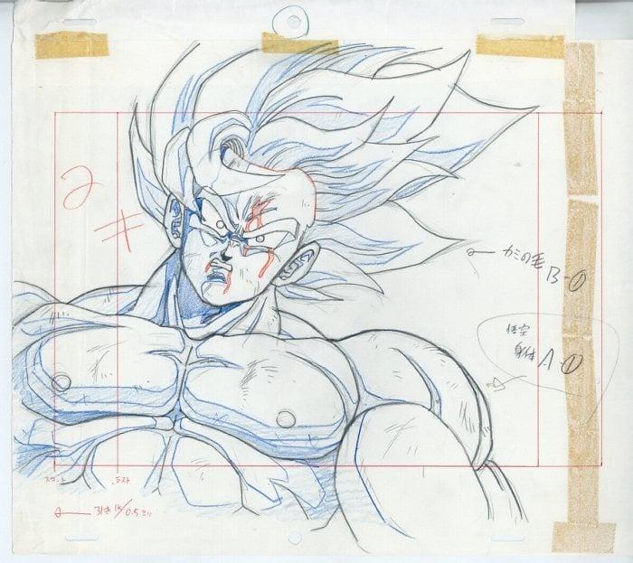 """Dragon Ball Z """"genga"""" illusztrációk 1"""