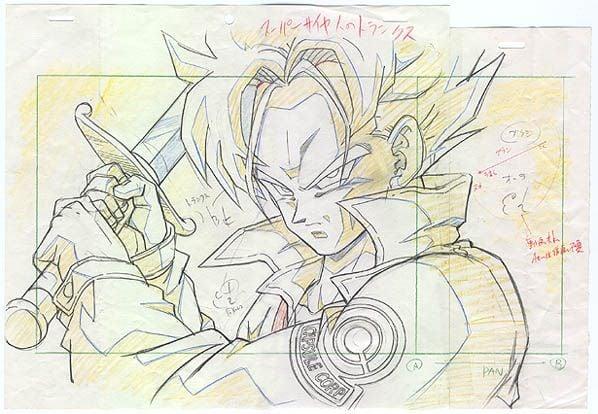 """Dragon Ball Z """"genga"""" illusztrációk 2"""