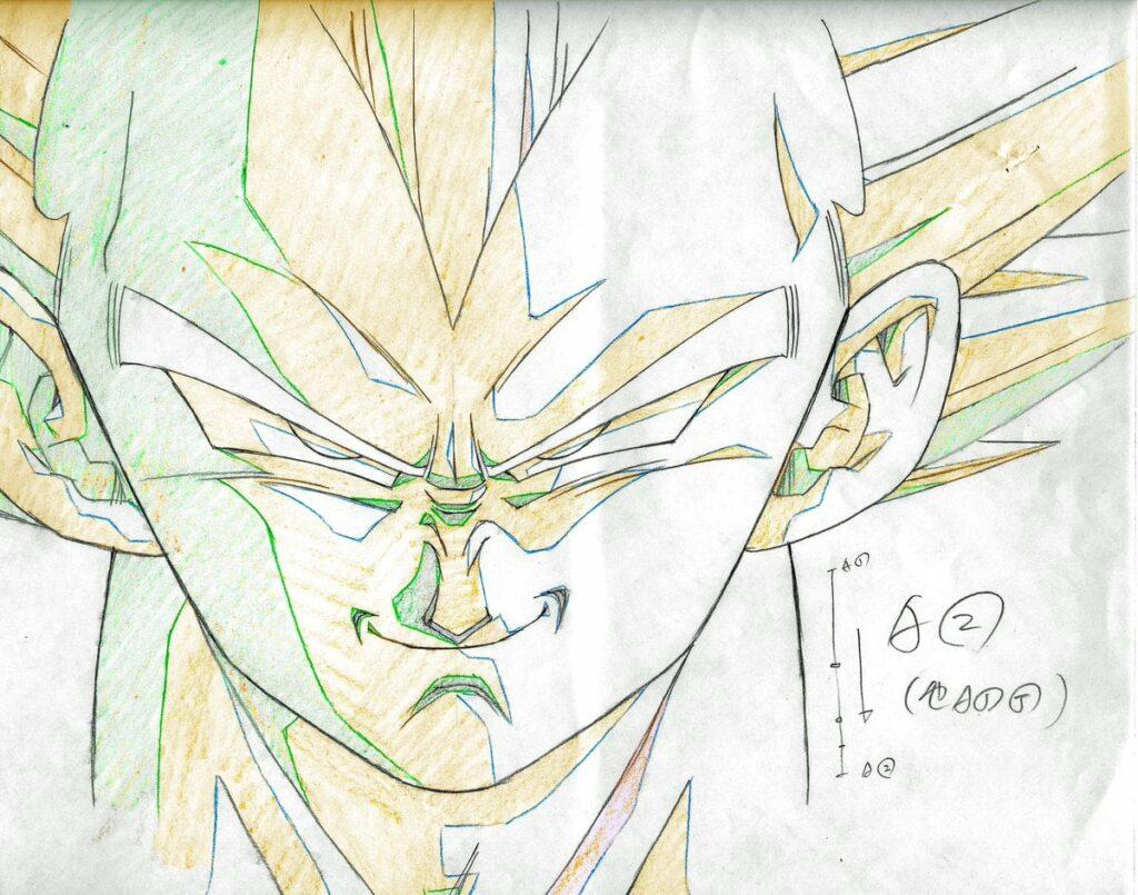 """Dragon Ball Z """"genga"""" illusztrációk 4"""