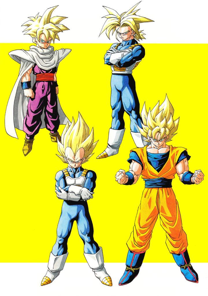 Toriyama Archívum 019: Four Great Super Saiya-jins poszter illusztráció 1