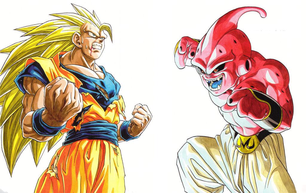 Toriyama Archívum 020: Goku vs. Buu - Weekly Shonen Jump 1995 1