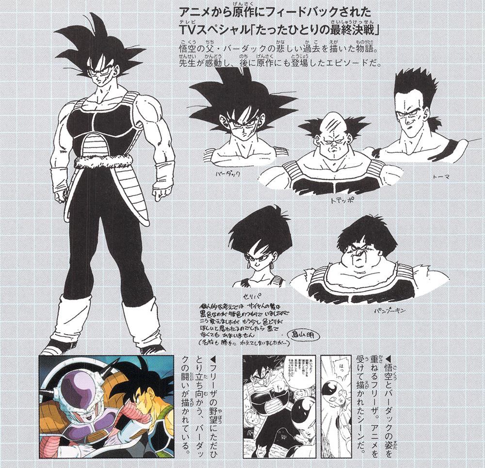 Bardock - Goku Apja Karakter Dizájnok