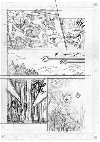 Dragon Ball Super Manga 73. fejezet vázlat oldalak és összefoglaló 3