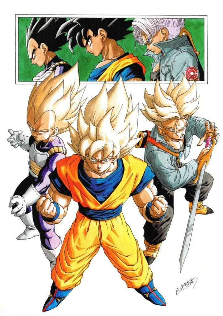 Toriyama Archívum 024: A három legerősebb Super Saiya-jin különleges poszter 1