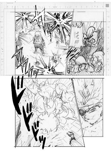 Dragon Ball Super Manga 74. fejezet vázlat oldalak és összefoglaló 6