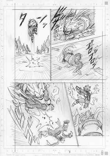 Dragon Ball Super Manga 75. fejezet vázlat oldalak és összefoglaló 4