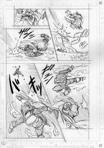 Dragon Ball Super Manga 75. fejezet vázlat oldalak és összefoglaló 5