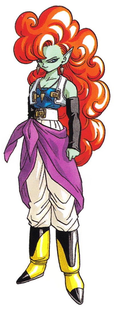 Dragon Ball Z: Bojack Unbound Zangya karakter dizájn